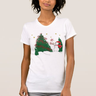 Snowman and Tree T-Shirt