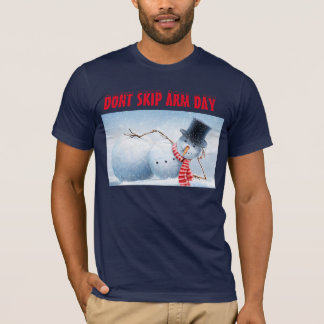 Snowman Arm Day blue t-shirt