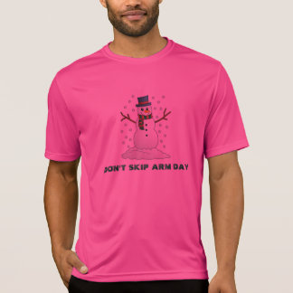 Snowman Arm Day pink t-shirt