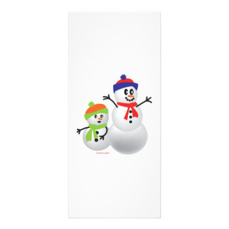 Snowman & Baby Personalized Rack Card