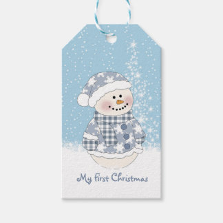 Snowman, Baby's First Christmas Gift Tags