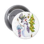 Snowman Badges
