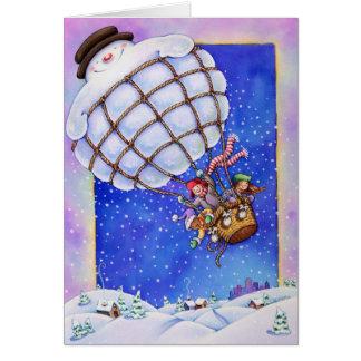 Snowman Balloon Greeting Card