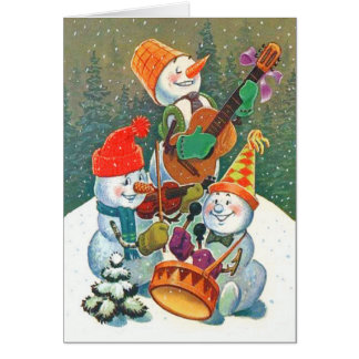 Snowman Band Card