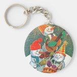 Snowman Band Keychains