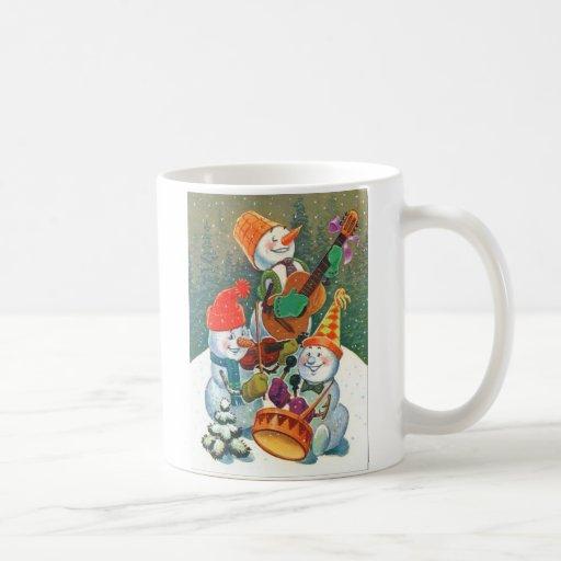 Snowman Band Coffee Mugs