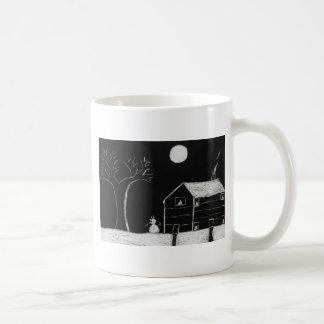 snowman basic white mug