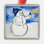 Snowman Birdfeeder Ornament