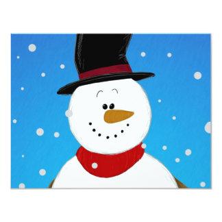 Snowman - Blue Card