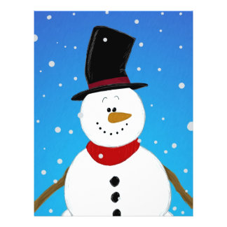 Snowman - Blue Full Color Flyer