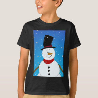 Snowman - Blue T-Shirt