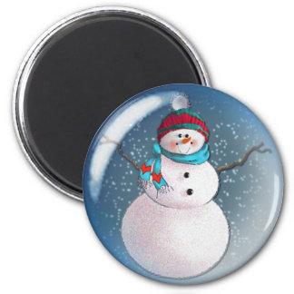 SNOWMAN BUBBLE 3 by SHARON SHARPE 6 Cm Round Magnet