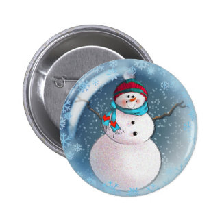 SNOWMAN BUBBLE by 3 SNOWFLAKES SHARON SHARPE Pin