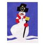 Snowman by VictoriaShaylee Postcards
