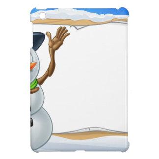 Snowman Cartoon Christmas Sign Case For The iPad Mini