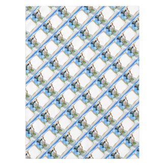 Snowman Cartoon Christmas Sign Tablecloth