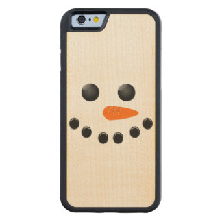 Snowman Carved Maple iPhone 6 Bumper Case