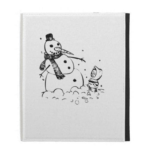 Snowman iPad Folio Cover