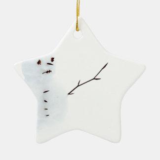 Snowman Ceramic Star Decoration