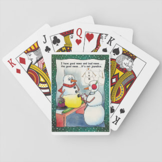 Snowman Checkup Playing Cards