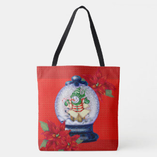 SNOWMAN CHRISTMAS 3 TOTE CUTE CARTOON TOTE BAG