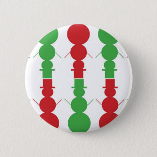 snowman christmas 6 cm round badge