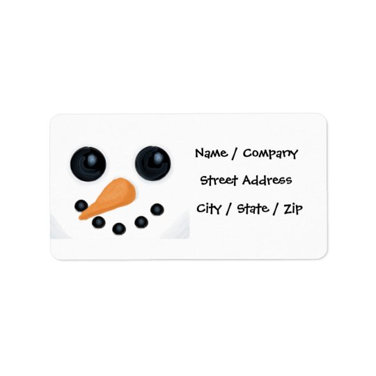 Snowman Christmas Address Labels