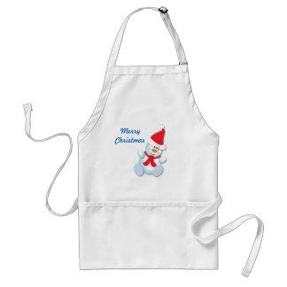 Snowman Christmas Apron