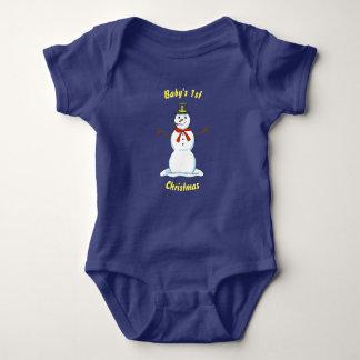 Snowman Christmas Baby Bodysuit