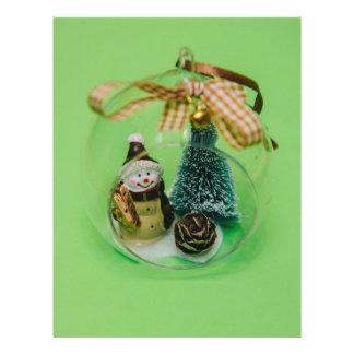 Snowman Christmas bauble 21.5 Cm X 28 Cm Flyer