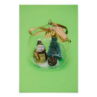 Snowman Christmas bauble Photograph