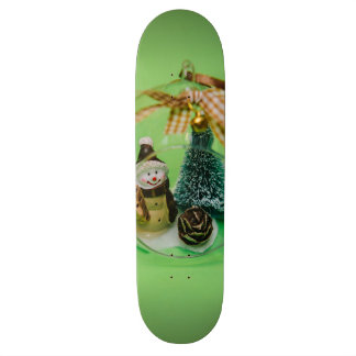 Snowman Christmas bauble Skateboard Deck