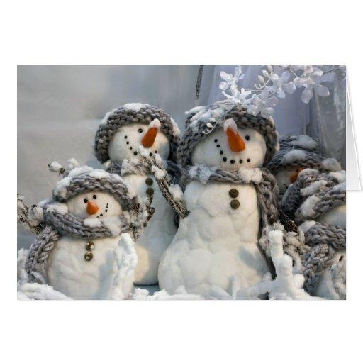 Snowman Christmas Greeting Cards