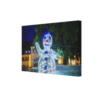 Snowman Christmas decoration Canvas Prints