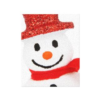 Snowman Christmas decoration Stretched Canvas Print