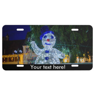 Snowman Christmas decoration License Plate