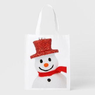 Snowman Christmas decoration Reusable Grocery Bag