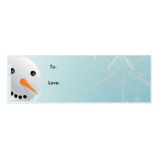 Snowman Christmas Gift Tag Double-Sided Mini Business Cards (Pack Of 20)