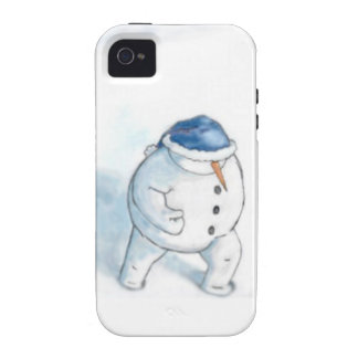 Snowman Christmas Greeting iPhone 4 Covers