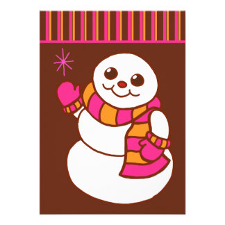 Snowman Christmas Invitations