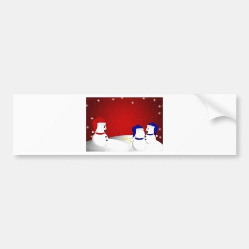 Snowman Christmas Message Bumper Sticker