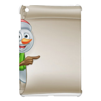 Snowman Christmas Scroll iPad Mini Case