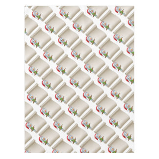 Snowman Christmas Scroll Tablecloth