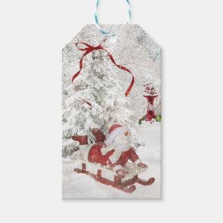 Snowman Christmas Snow Globe holly sled tags