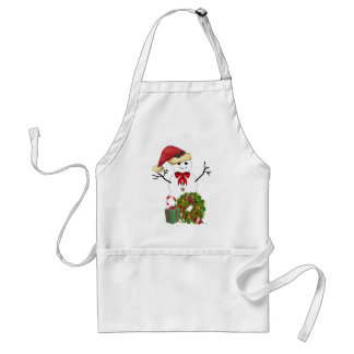 Snowman Christmas Standard Apron