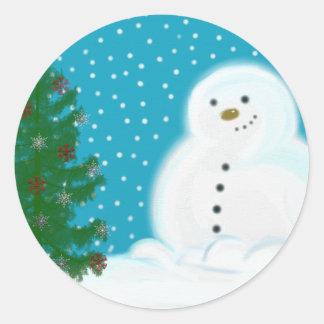 Snowman Christmas Sticker