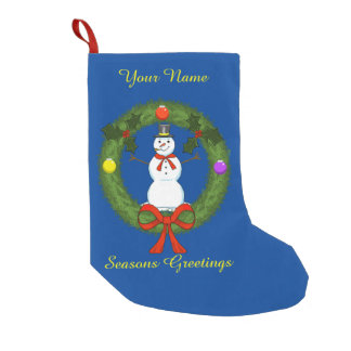 Snowman Christmas Stocking (Customizable)