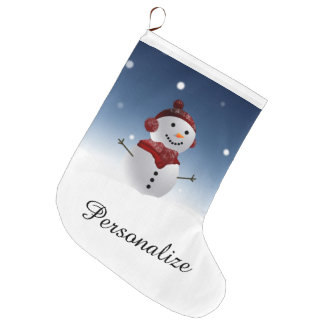 Snowman Christmas Stocking - Personalized Name