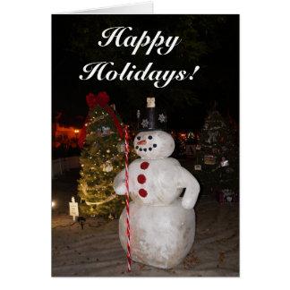 Snowman & Christmas Tree Card