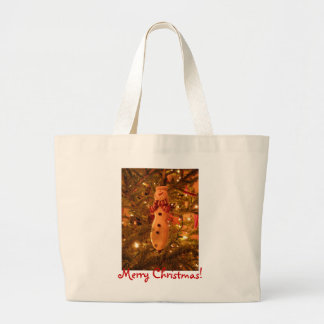 Snowman Christmas Tree Decoration Tote Bags